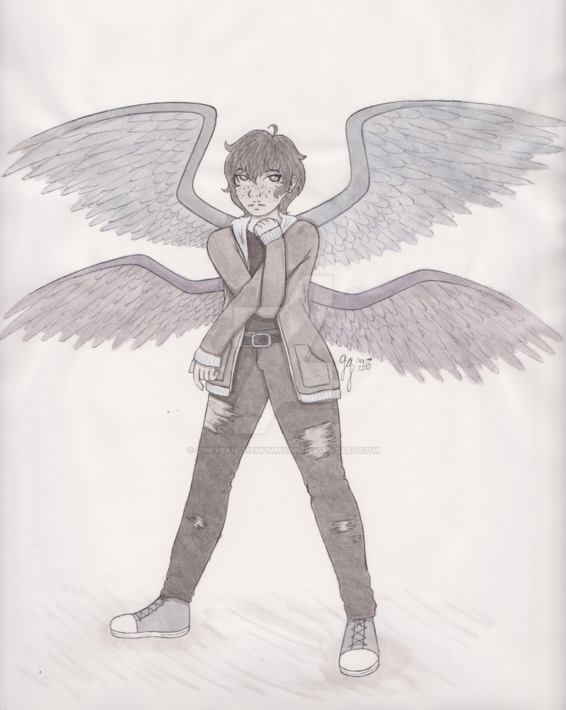 Inktober Day 2: Wings by ChrysanthemumMoon