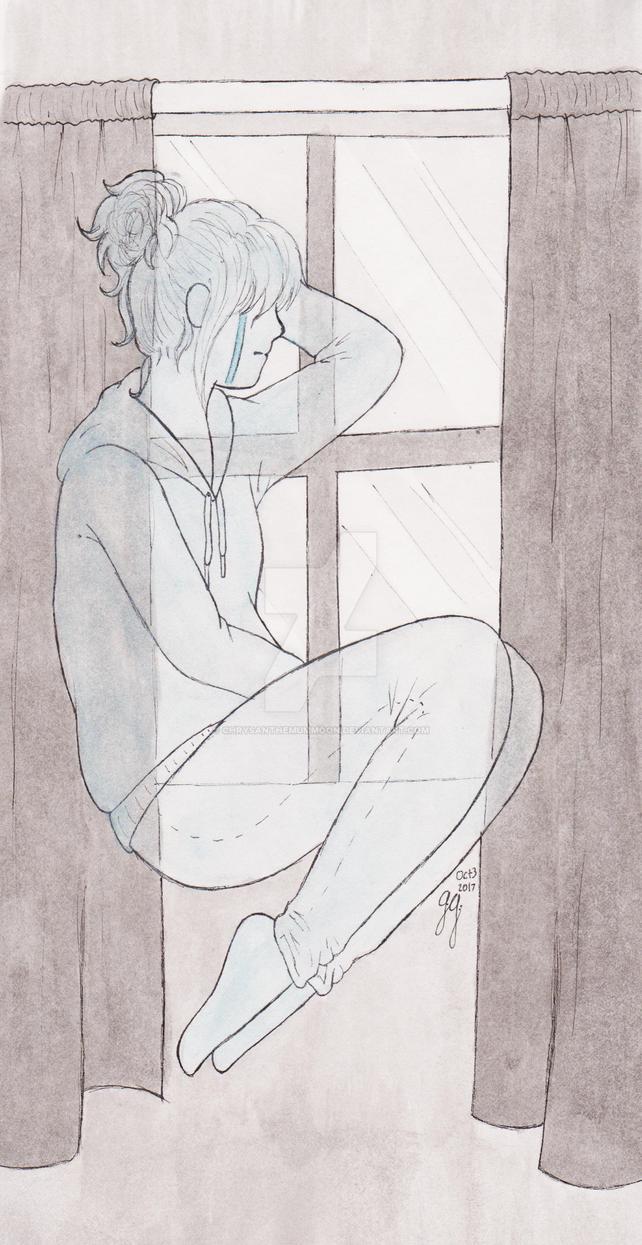 Inktober Day 3: Ghost by ChrysanthemumMoon