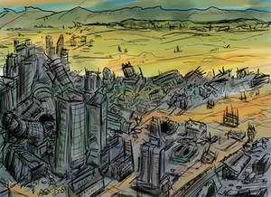 Los Angeles Post Nuclear Landscape
