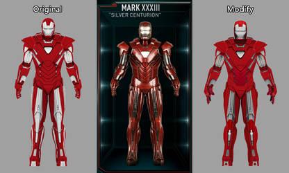 Iron Man Mark 33 -Silver Centurion modify XNA OBJ by silkroad820420