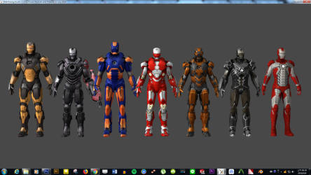 Iron Man Mark 3 armors for XNA by silkroad820420