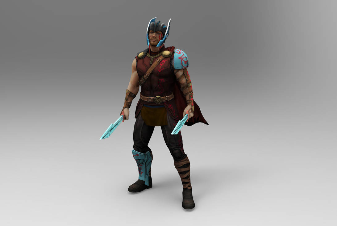 MH Unreleased Skin -Thor Ragnarok Gladiator Thor by silkroad820420