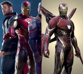 Avengers Endgame Iron Man suit comparison by silkroad820420