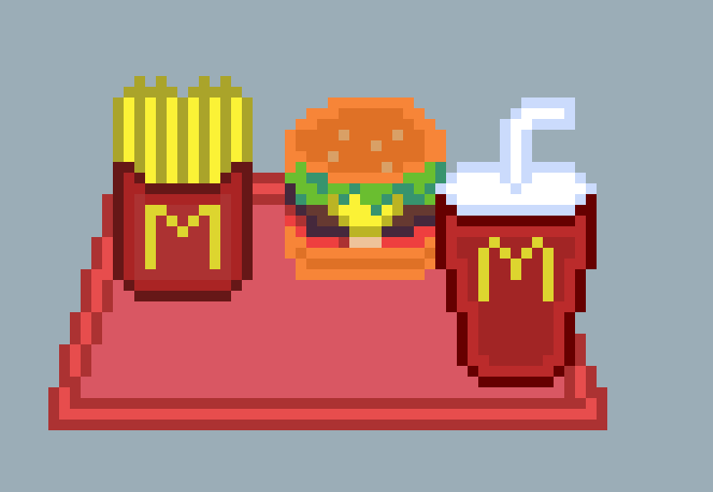 Mcdonalds Pixel Art By Cyb3rrin On Deviantart