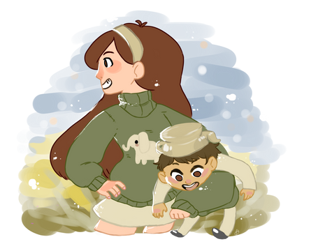 Mabel And Greg Request from tumblr