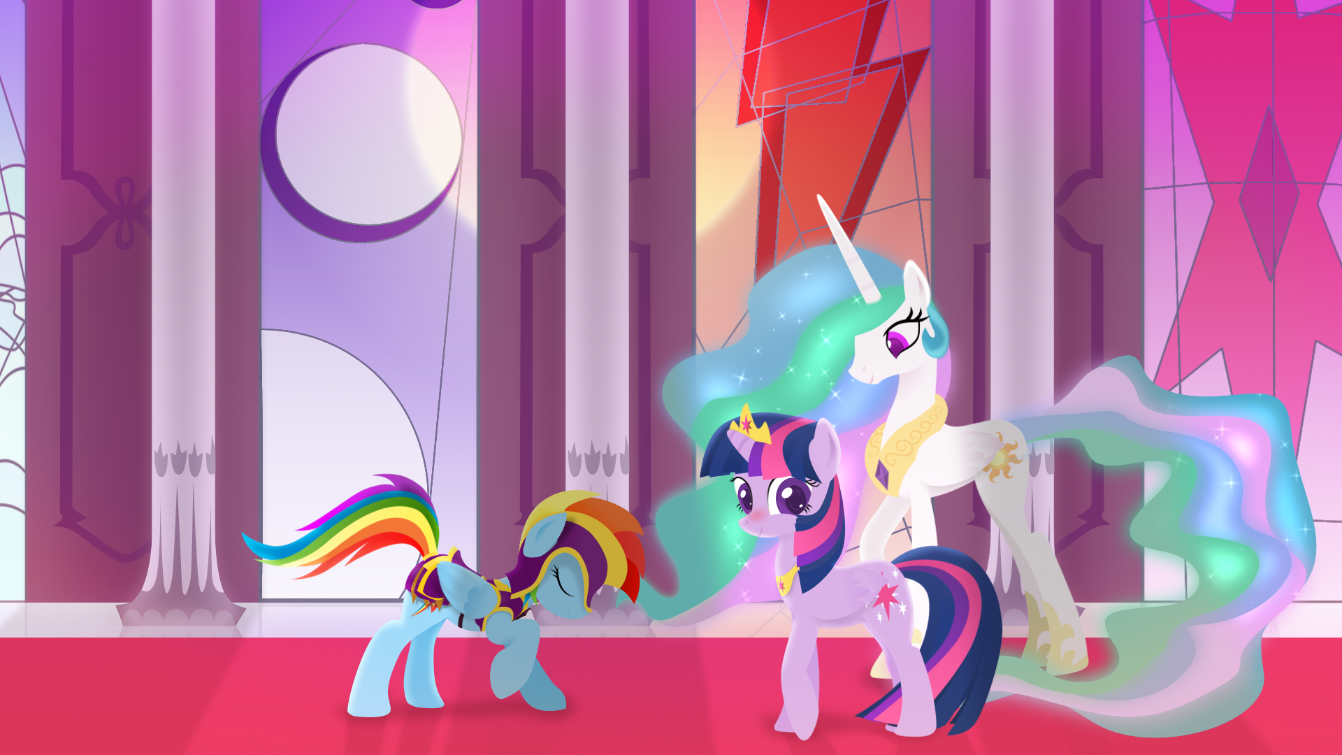 My little pony princess twilight sparkle and flash sentry kiss - photo#2