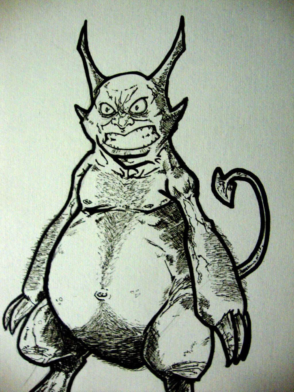 Demon Sketch by IgorChakal