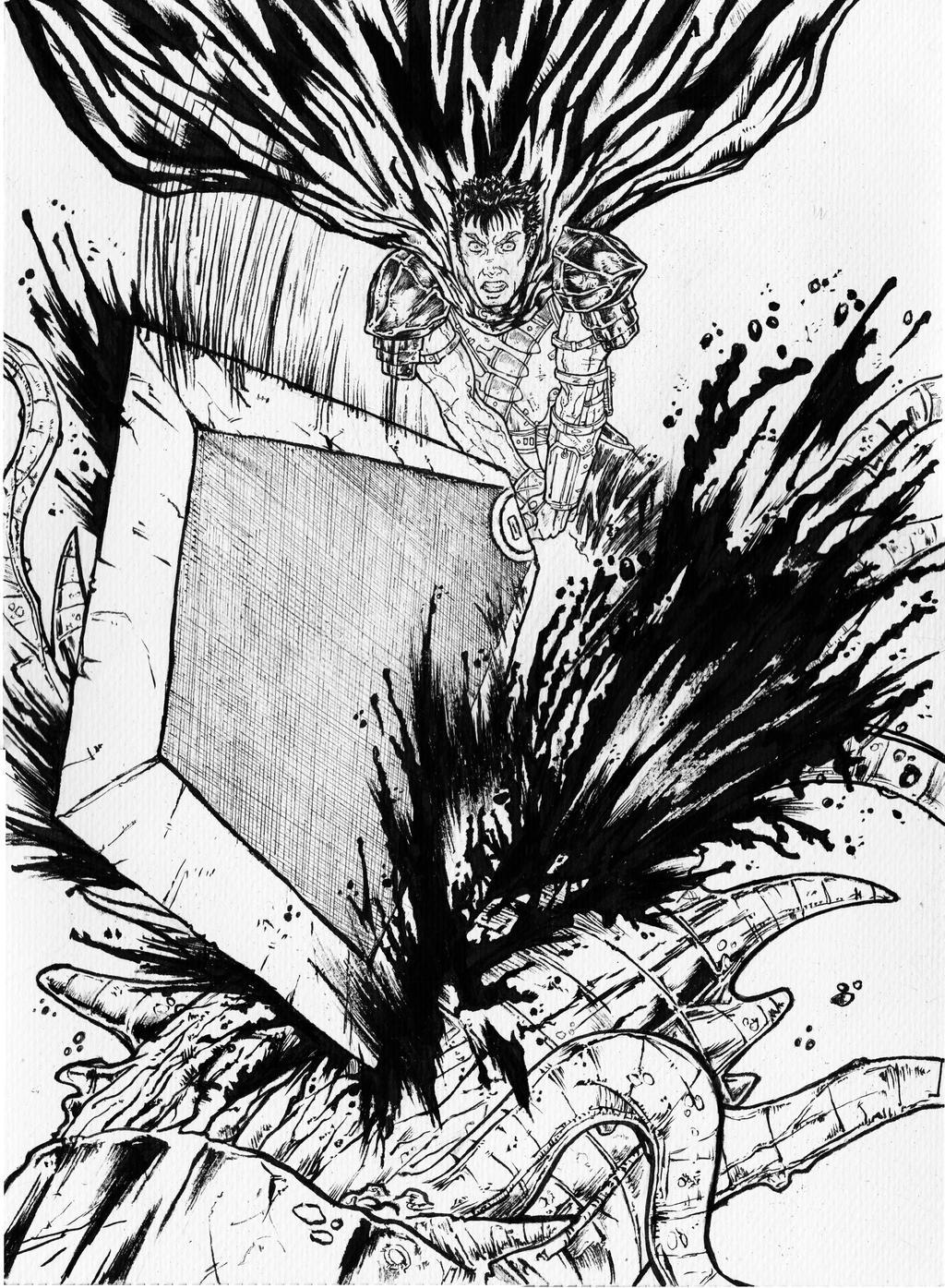 ♕ SPIRIT BRINGERS: EMPYREAN REALM. (SAGA DE UNUKALHAI) Berserk_fan_art___a3_ink_by_igorchakal-d6grh2y