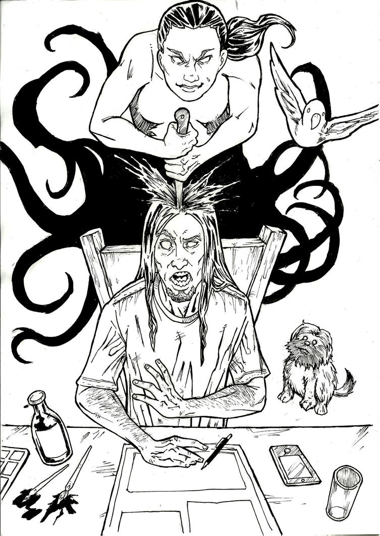 Asshole - A4 ink by IgorChakal