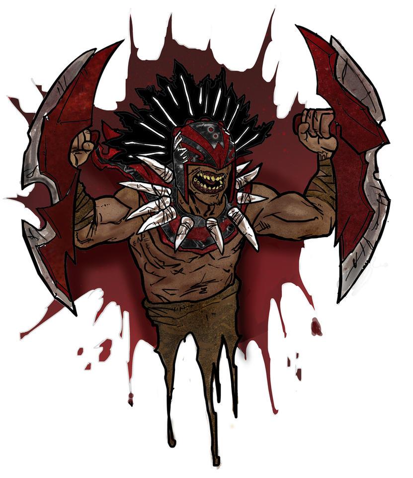 Dota 2 - Bloodseeker Digital painting by IgorChakal