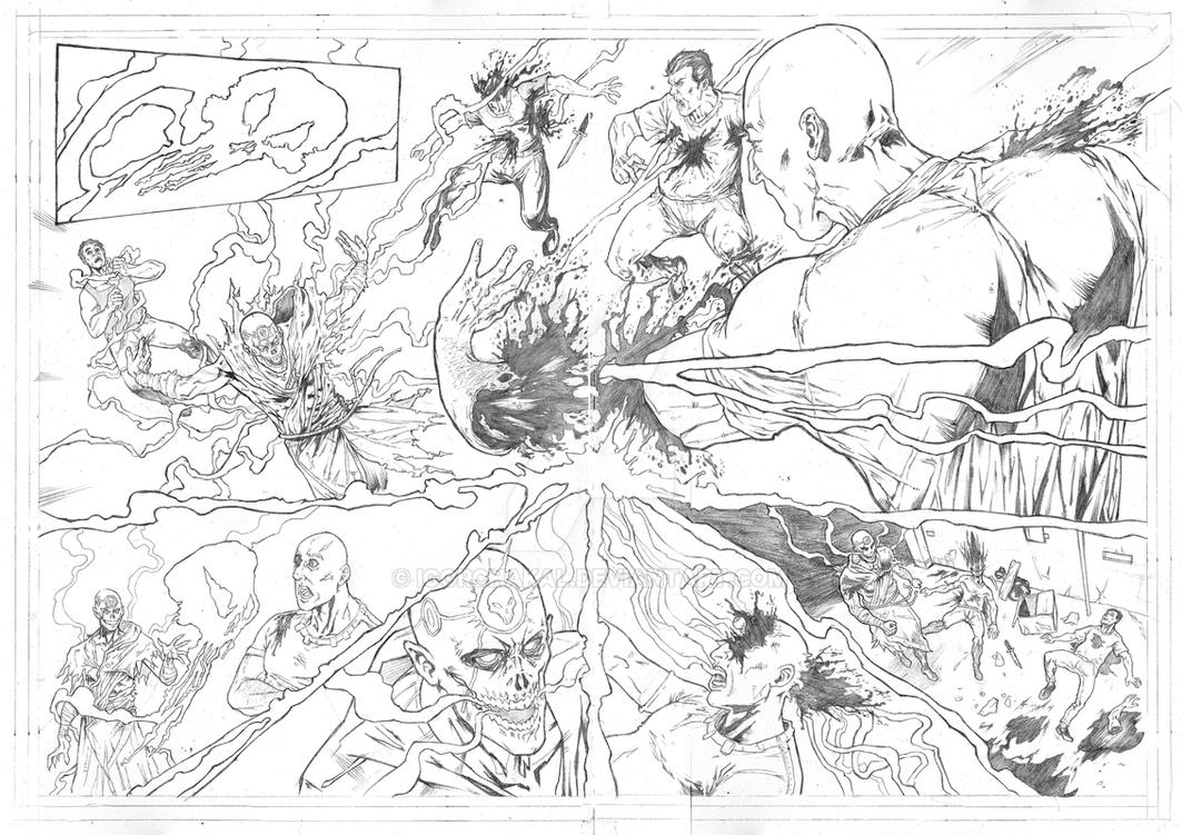 Sample Top Cow 2015 - Page 3 and 4 Double Spread by IgorChakal