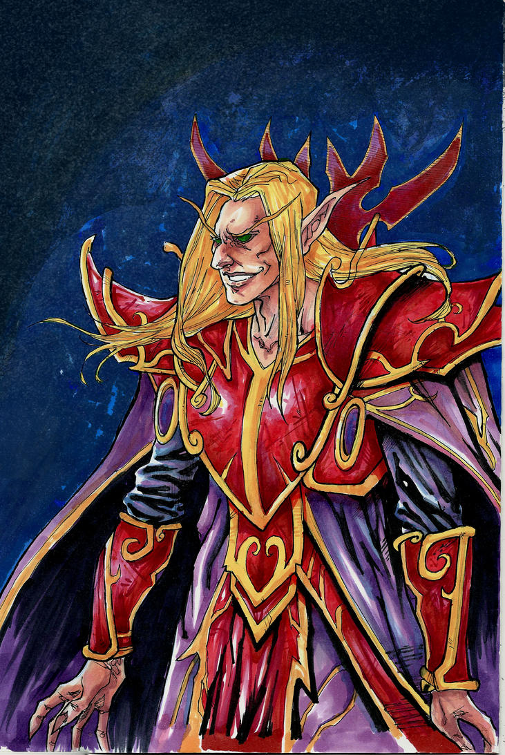 Kael'thas A4 copic markers by IgorChakal