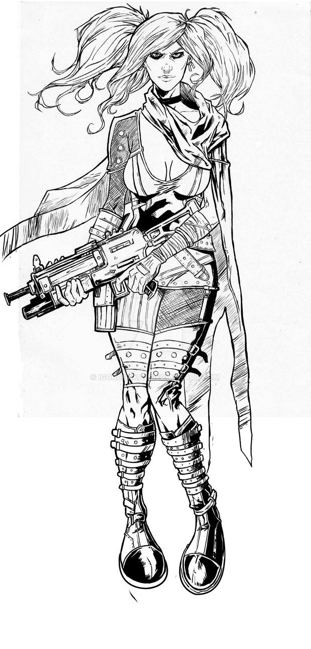 Concept art - Girl 2 by IgorChakal