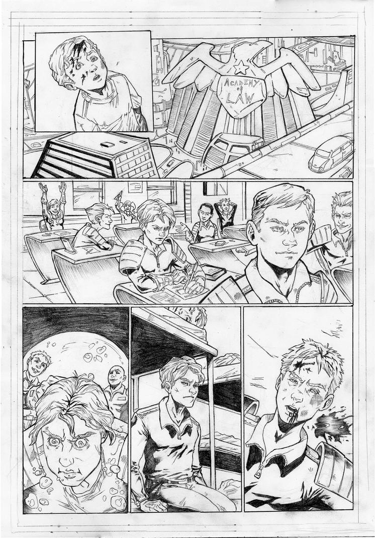 Judge Dredd - Cycle of Violence Page 2 by IgorChakal