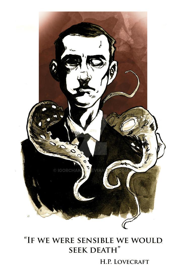 Inktober - Lovecraft by IgorChakal