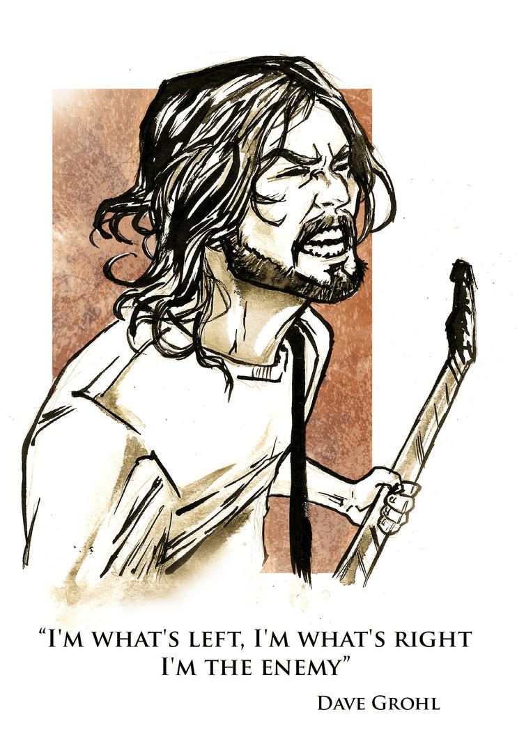 Dave Grohl  day 28 inktober by IgorChakal