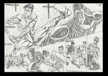 Nightwing 08 sample pages #3 - 4 by IgorChakal