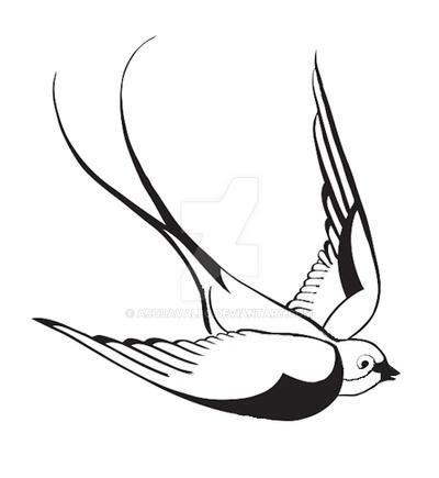 tattoo design 1 classic swallow by acquavallo on deviantart. Black Bedroom Furniture Sets. Home Design Ideas