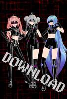 TDA Cyber Baes Teto, Haku, Miku + DOWNLOAD by ToriiIsWeird