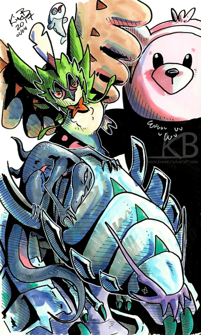 Pokemon Sun Team Doodle by kimardt