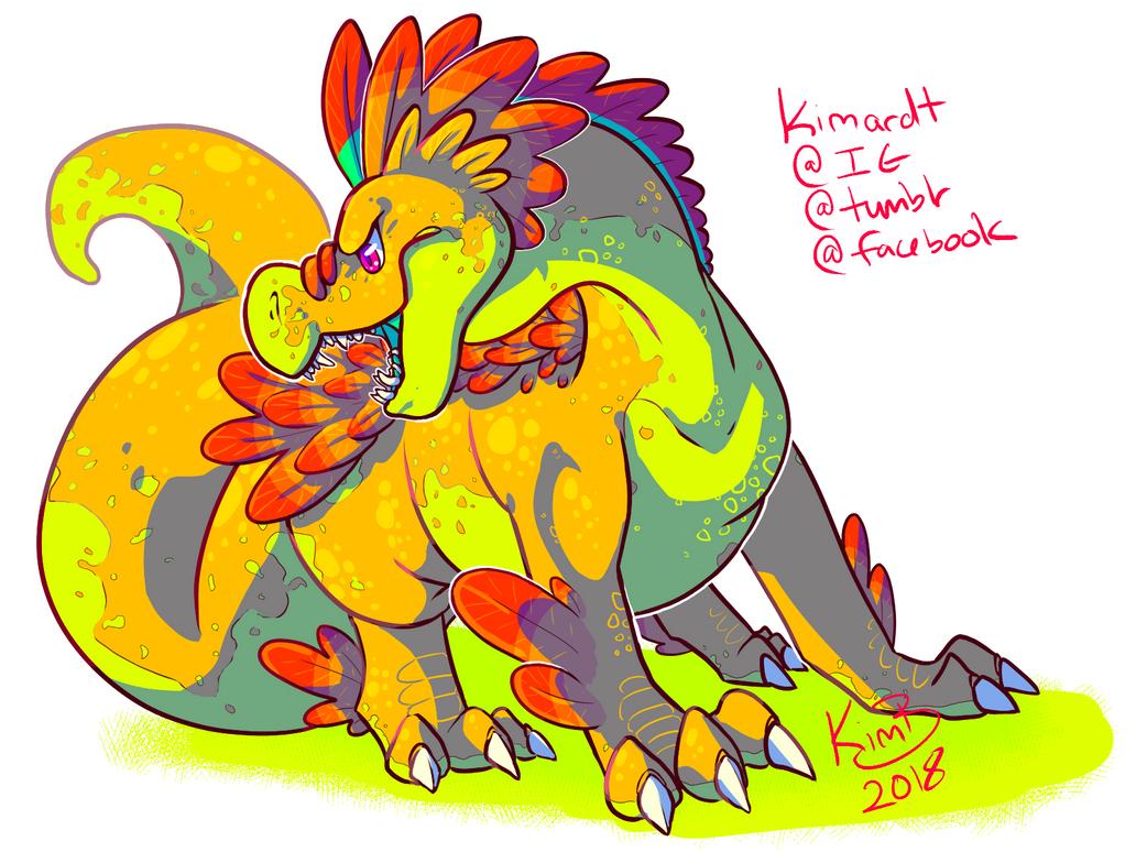 Pretzal the Dragon by phantos