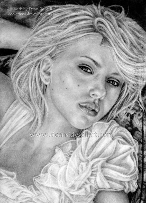 Scarlett Johansson by DeanSidwellArt