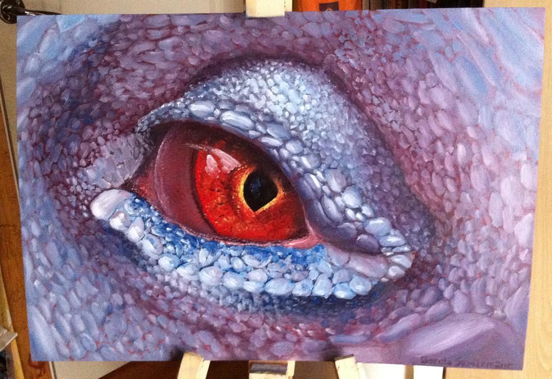 Lizard eye painting by Catherine-HolmesLizard Painting