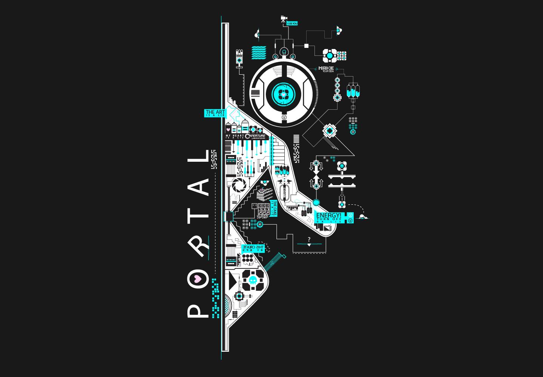 portal 2 abstract by brunobps on deviantart. Black Bedroom Furniture Sets. Home Design Ideas