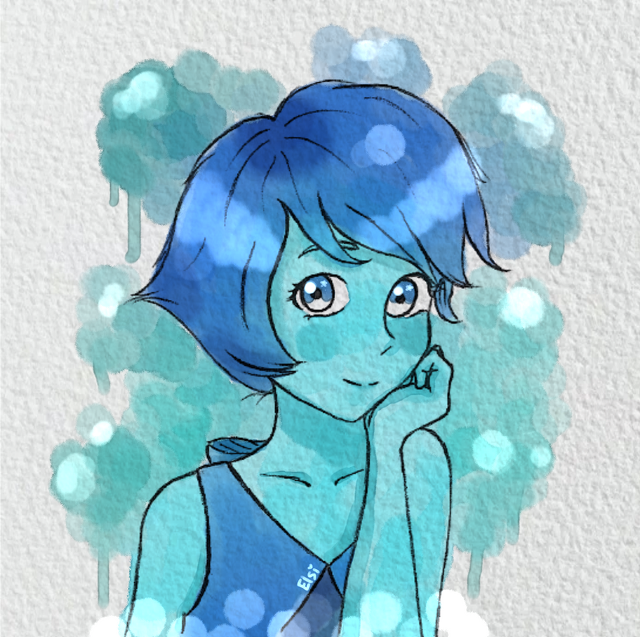 Hello! I bring a new drawing  , this time Lapis Lazuli Steven Universe  , I did with watercolor effect in digital, I hope you like it as much as me .  Speedpainting also uploade...