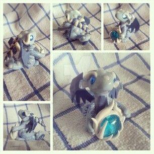 Blue Fire Glass Dragon by KarolinaSkaUniverse