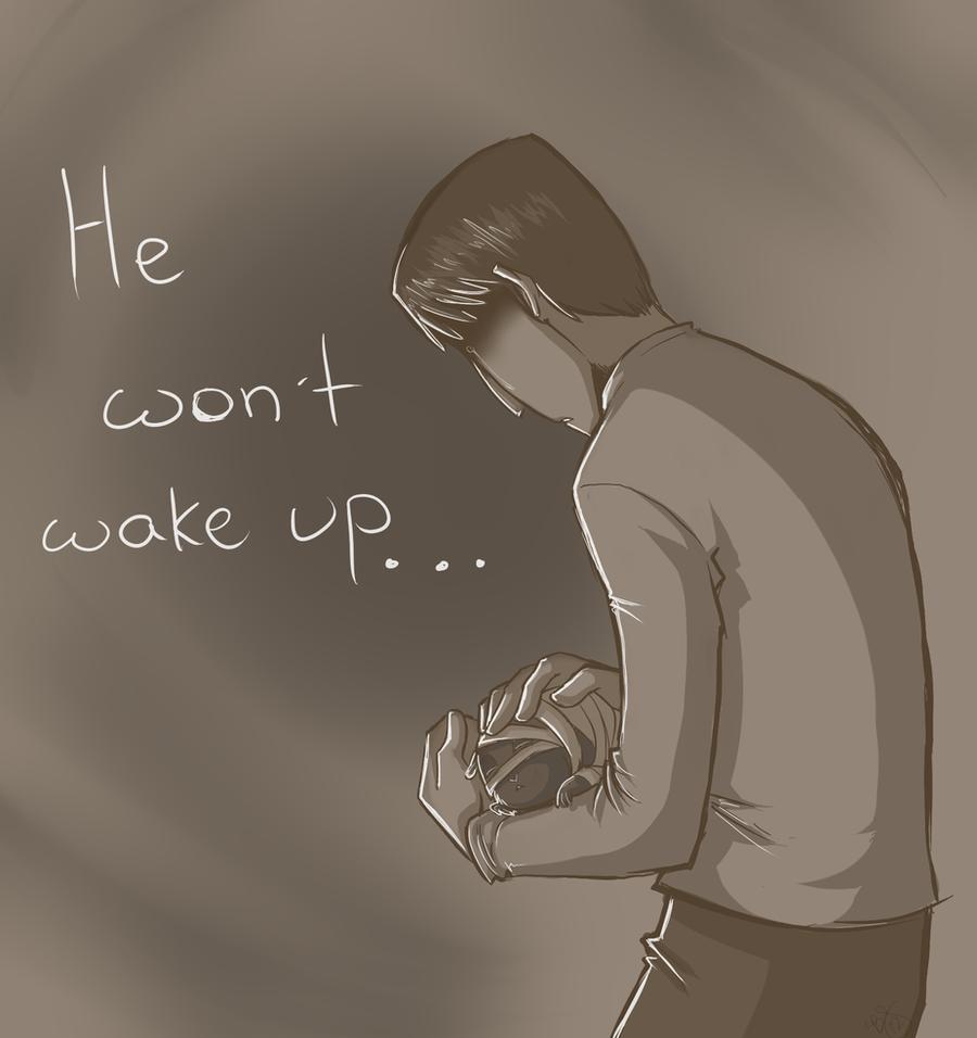 He Won't Wake Up.. by HoneyCane