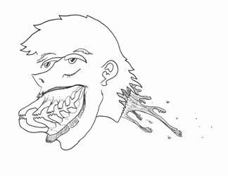 Late Night Doodles 2: Finger Teeth by InkGink