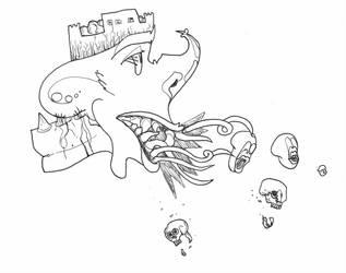 Late Night Doodles 3: Snake Teeth by InkGink