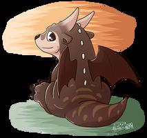Otter dragon by PhoenixSoar