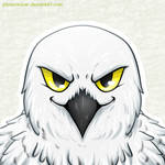 [Commission avatar] Snowy owl
