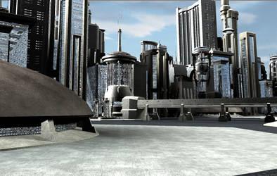 Spaceport City 01 by mylochka