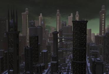 Spaceport City 02 by mylochka