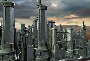 Spaceport City 03 by mylochka