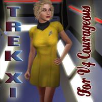 Trek XI dress - V4 Courageous by mylochka