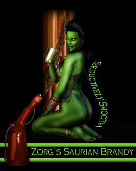Saurian Brandy Ad