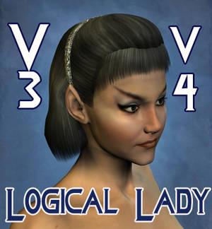 Logical Lady Hair for V4 and V