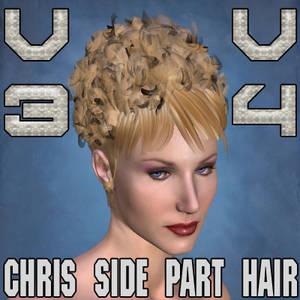Chris Side Part Hair V3 V4