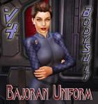 Bajoran Uniform for V4 Bodysuit