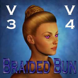 Braided Bun Hair for V3 and V4 by mylochka