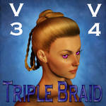 Triple Braid Hair for V3 and V4
