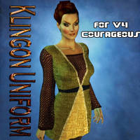 TOS Klingon Uniform Dress for V4 Courageous by mylochka