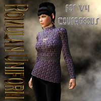 Romulan Uniform Textures for V4 Courageous by mylochka