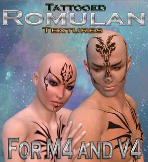 Romulan Tattoo Textures for M4 and V4