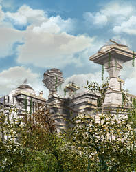 Ruined Starbase by mylochka