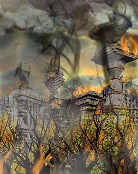 Burning Ruined Starbase